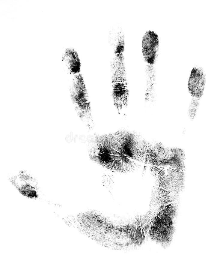 Teste-Mão da tinta ilustração royalty free
