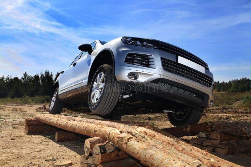 Teste-movimentação de SUV imagem de stock