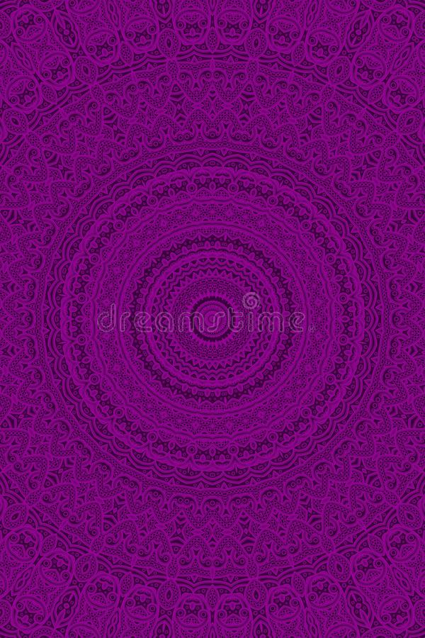 Teste padrão do ‹de Mandala†ilustração do vetor