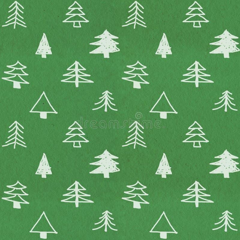 Teste padrão à moda da árvore de Natal fotos de stock royalty free