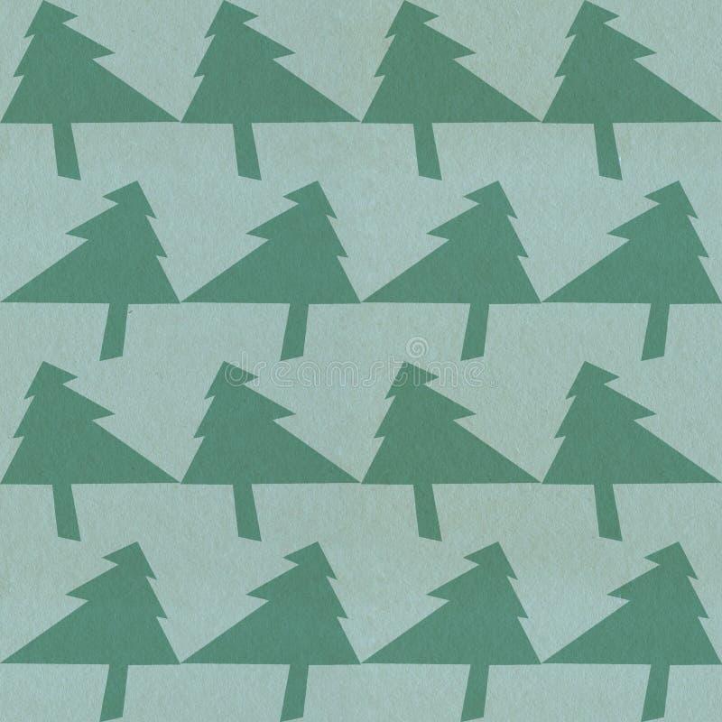 Teste padrão à moda da árvore de Natal fotografia de stock