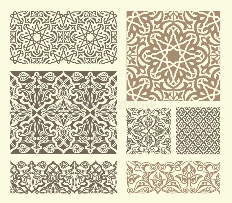 Teste padrão árabe ilustração do vetor