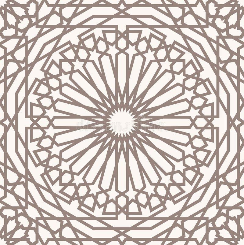 Teste padrão árabe ilustração stock
