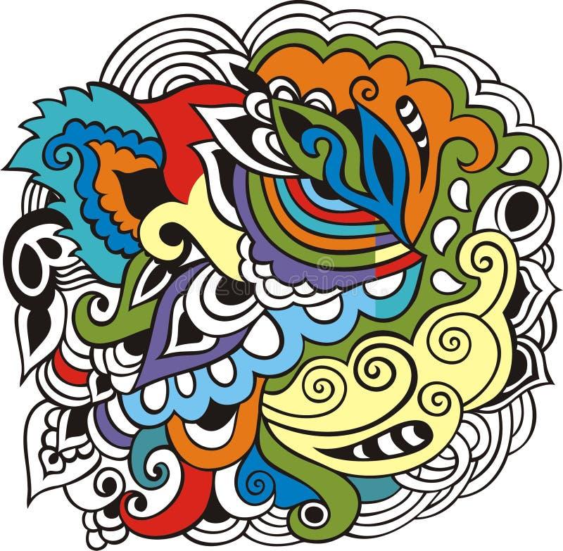 Teste padrão árabe de paisley para a celebração da comunidade muçulmana, holi do festival, livro para colorir Zentangl tribal tir ilustração do vetor