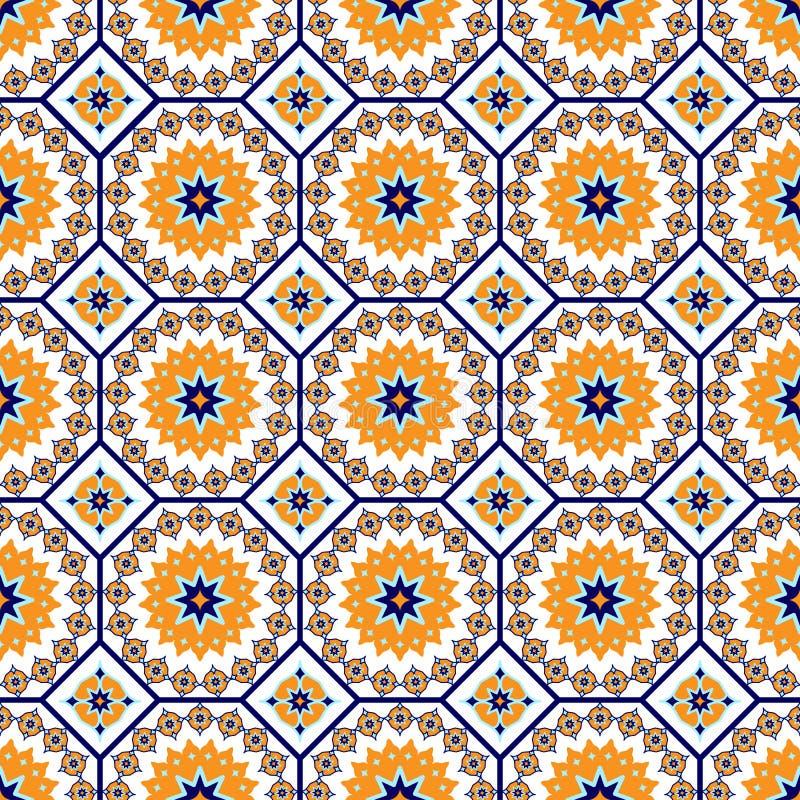 Teste padrão árabe sem emenda do vetor Arabesque, Ramazan, cumprimento, ramadã feliz do mês Teste padrão sem emenda da geometria  ilustração royalty free