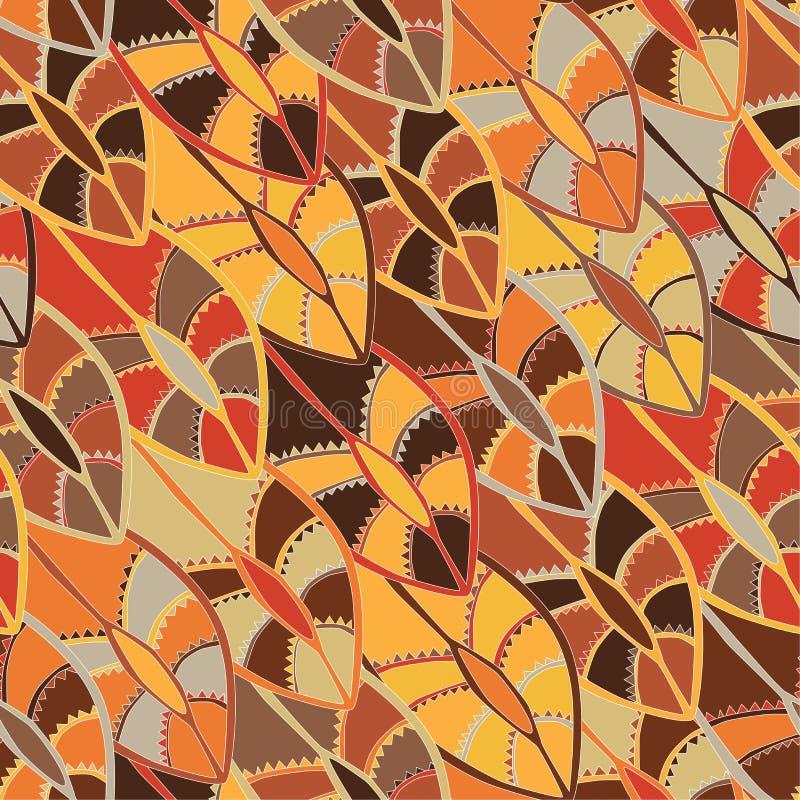 Teste padrão étnico colorido com os motivos de um protetor da dança dos povos do kikuyu de Kenya central imagem de stock royalty free