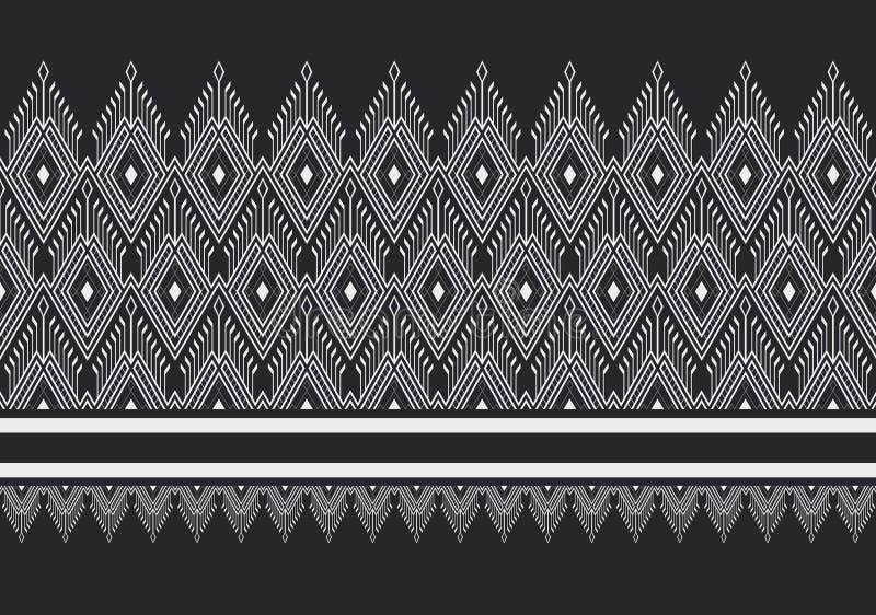 Teste padrão étnico geométrico ilustração do vetor