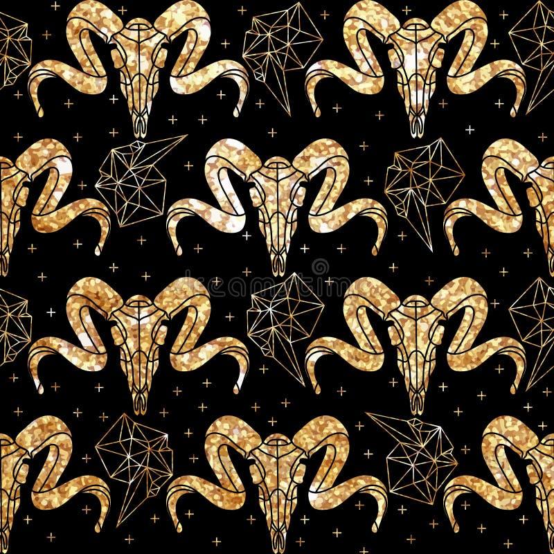 Teste padrão étnico no estilo do zentangle para a matéria têxtil, ilustração royalty free