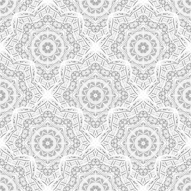 Teste padrão étnico sem emenda de ornamento redondos ilustração do vetor