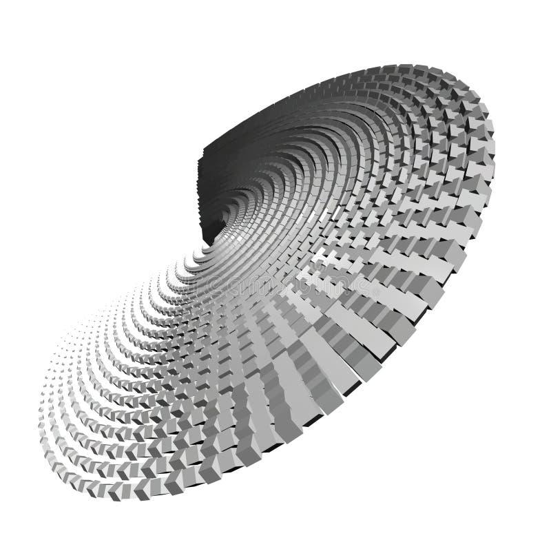 Teste padrão 3D abstrato ilustração royalty free
