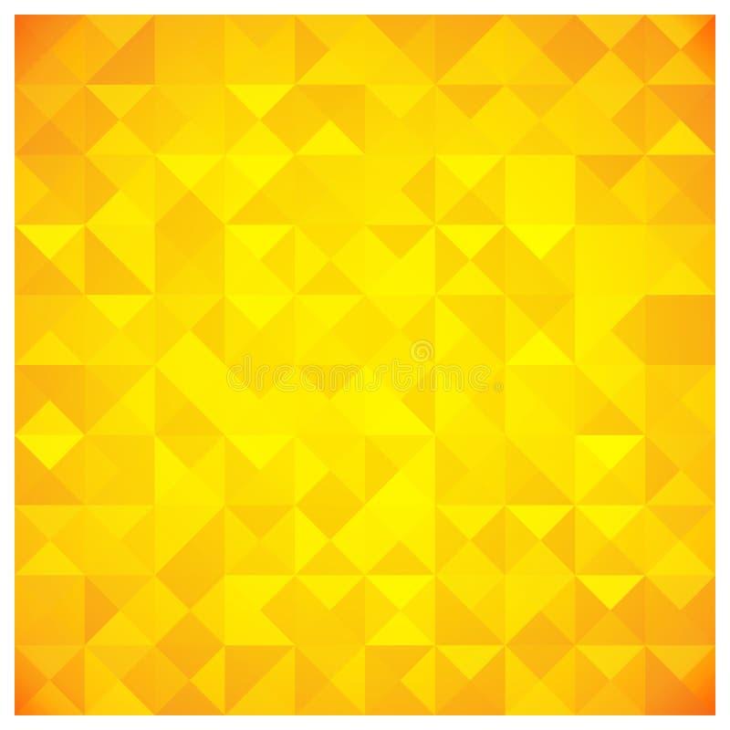 Teste padrão abstrato amarelo do triângulo e do quadrado ilustração royalty free