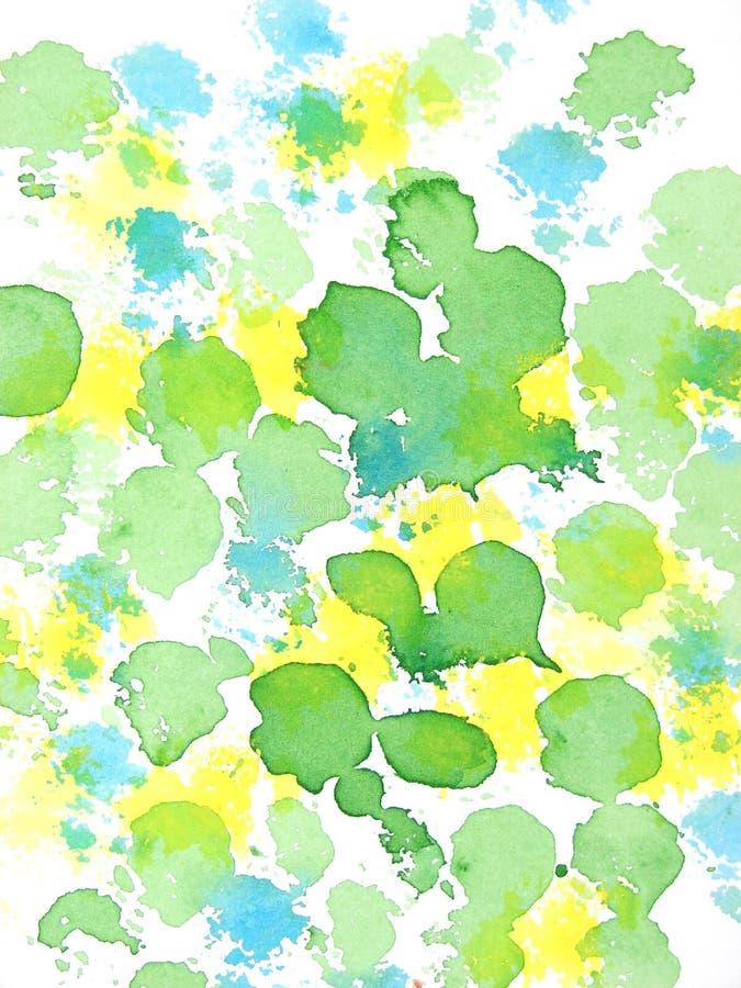 Teste padrão abstrato amarelo e azul verde ilustração do vetor