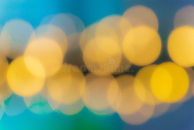 Teste padrão abstrato borrado da lâmpada do bokeh do colorfull imagem de stock royalty free