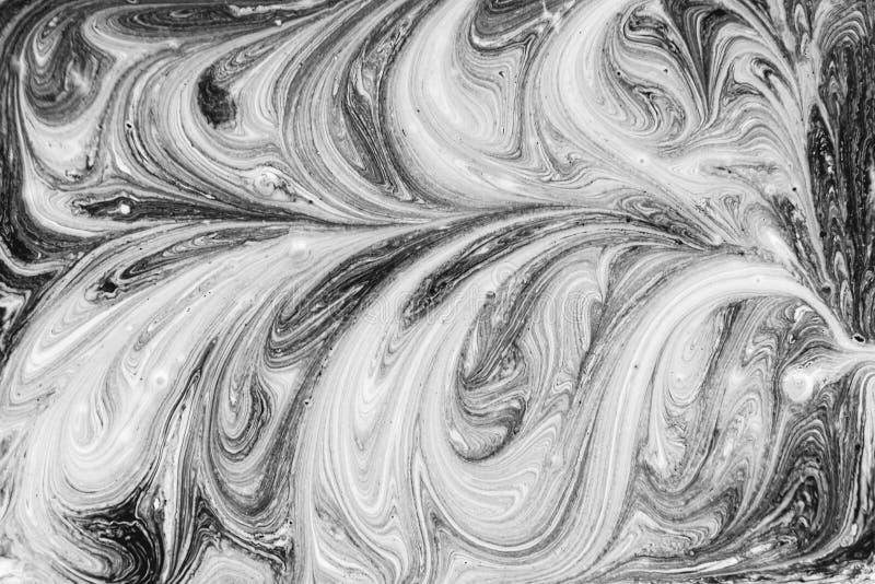 Teste padrão abstrato cinzento monocromático com pinturas acrílicas ilustração royalty free