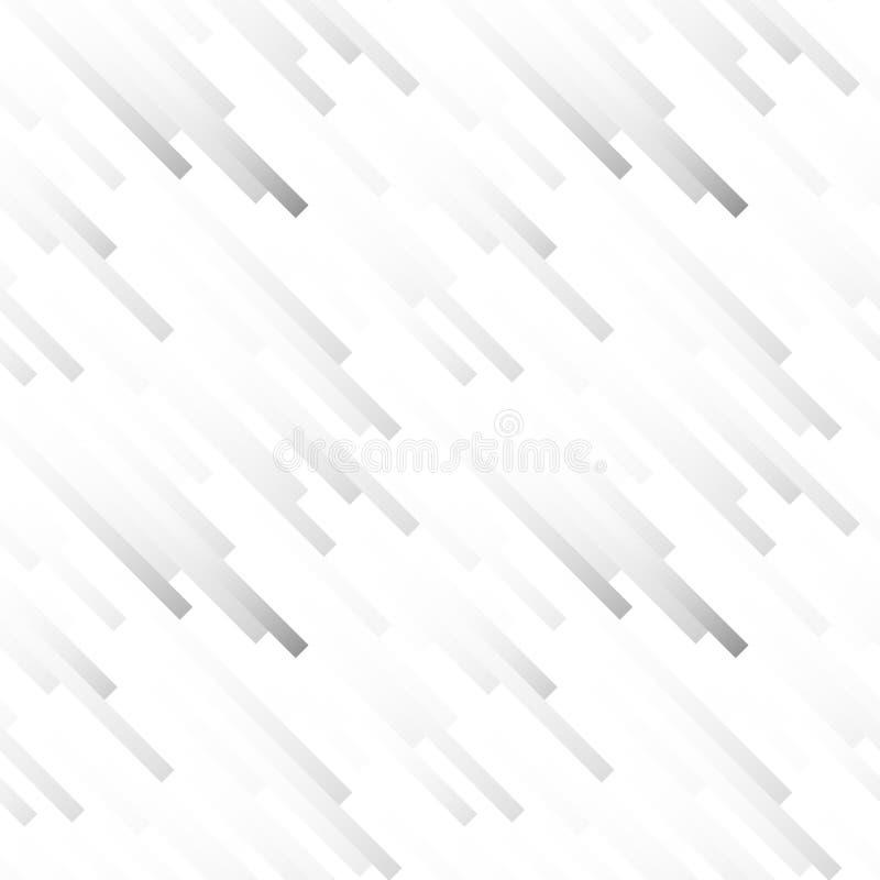 Teste padrão abstrato claro sem emenda Cópia geométrica composta das tiras brancas e do cinza Linha gráfica fundo ilustração stock