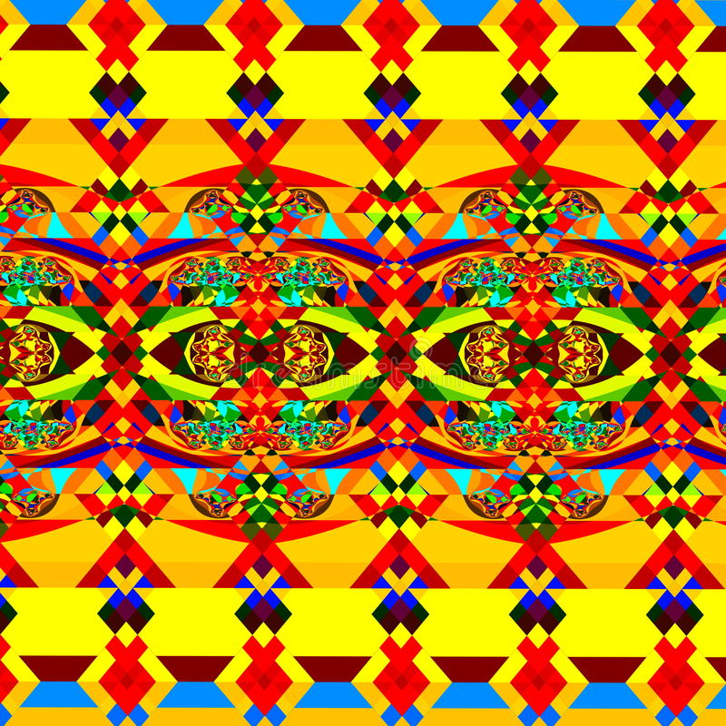 Teste padrão abstrato colorido Arte geométrica do fundo Ilustração do Fractal de Digitas Imagem decorativa caótica wallpaper ilustração stock