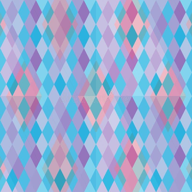 Teste padrão abstrato com diamantes ilustração stock