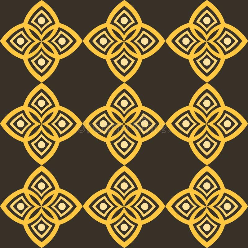 Teste padrão abstrato com estilística geométrica e motivo árabe ilustração royalty free