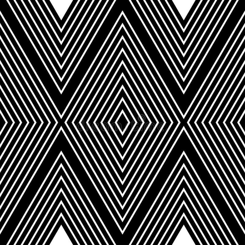 Teste padrão abstrato com linhas brancas no fundo preto foto de stock