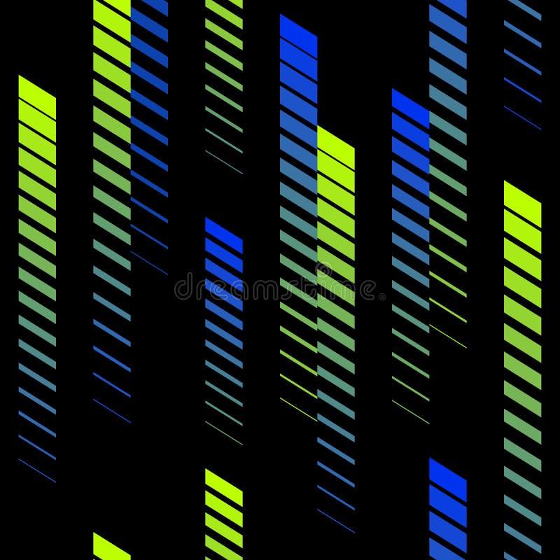 Teste padrão abstrato com linhas de desvanecimento do inclinação vertical, trilhas, listras de intervalo mínimo Teste padrão extr ilustração stock