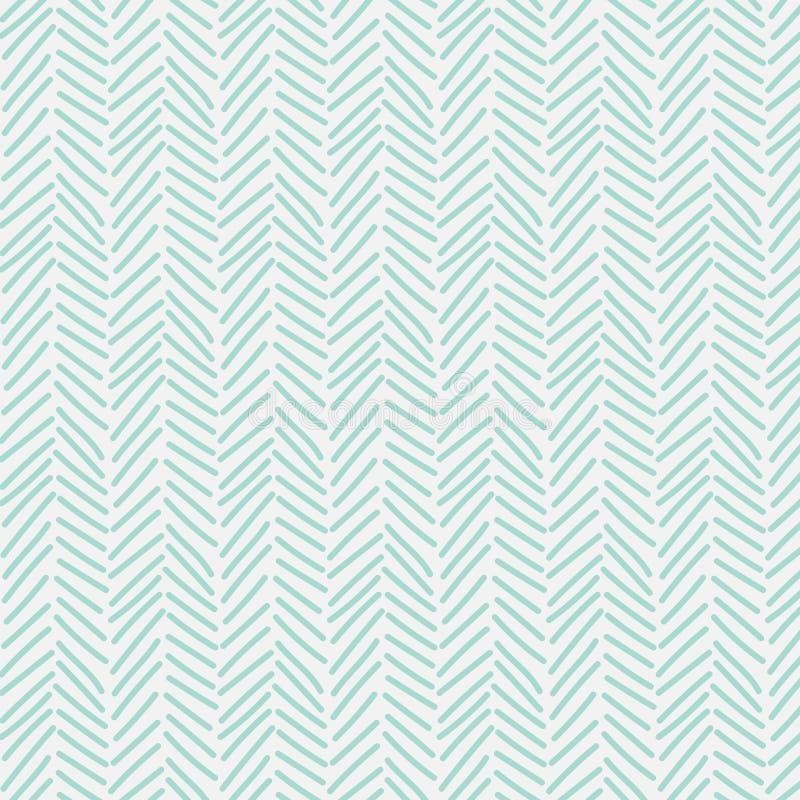 Teste padrão abstrato com linhas mão tirada ilustração stock