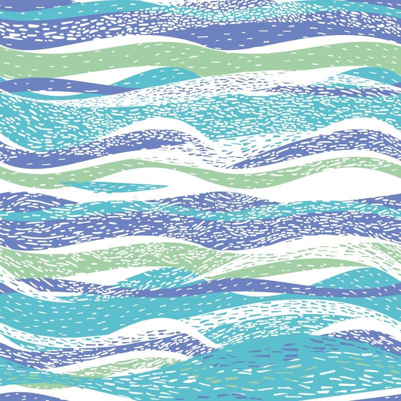 Teste padrão abstrato com ondas ilustração do vetor