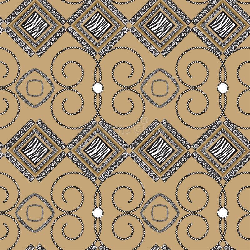 Teste padrão abstrato com pele da zebra ilustração royalty free