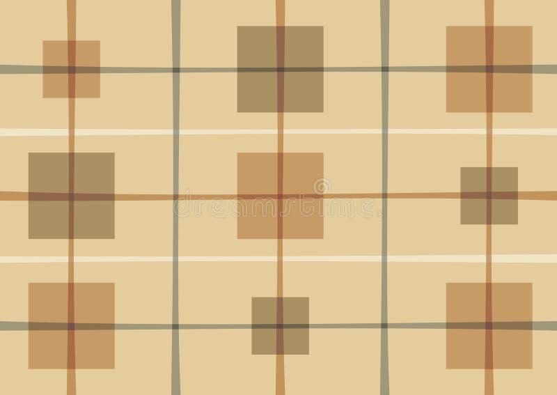 Teste padrão abstrato com quadrados ilustração stock