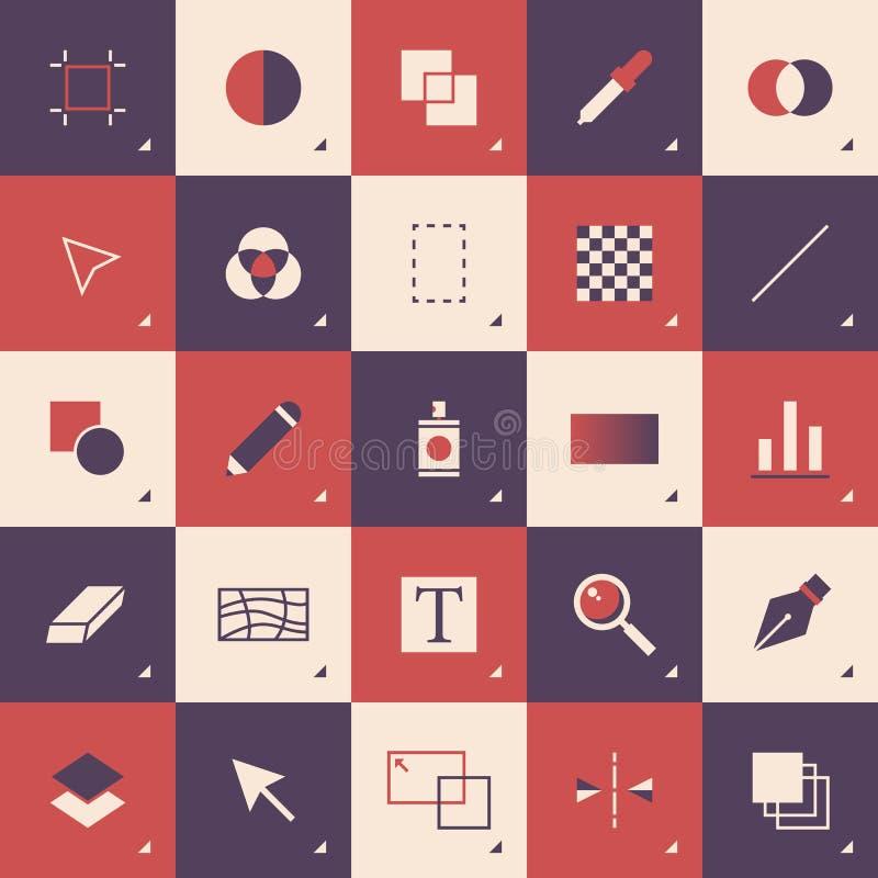 Teste padrão abstrato da barra de ferramentas do projeto gráfico ilustração stock