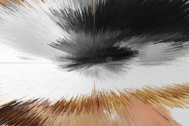 Teste padrão abstrato da extrusão ilustração stock