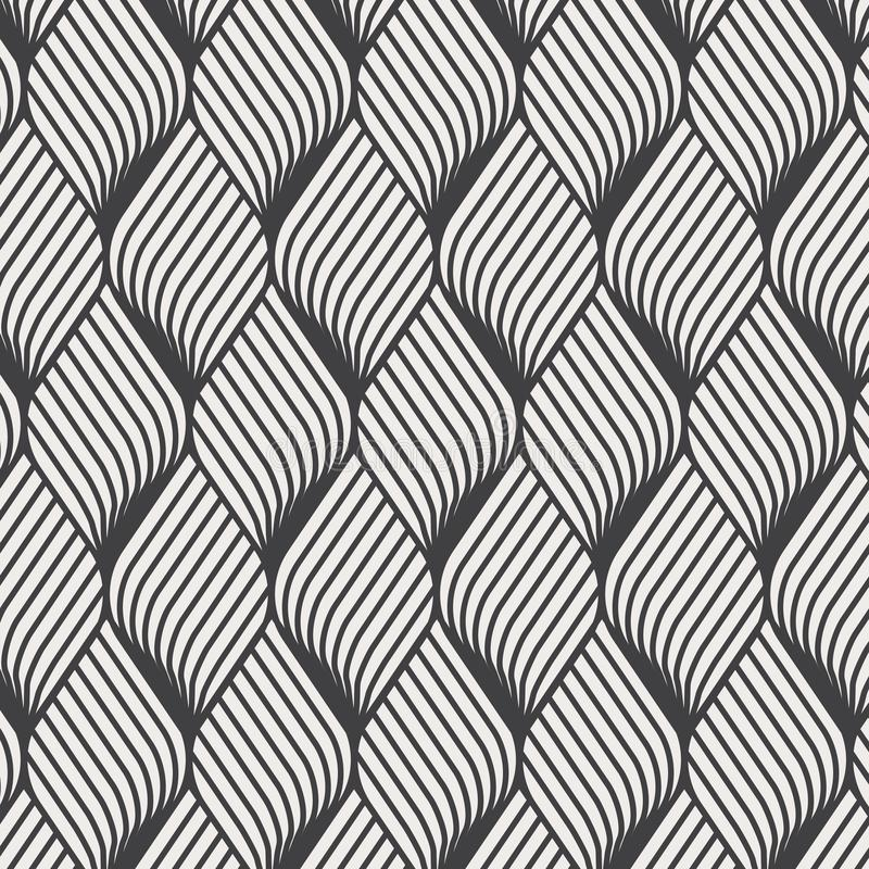 Teste padrão abstrato da ondinha da flor Repetindo a textura do vetor Fundo gráfico ondulado Ondas geométricas simples ilustração royalty free
