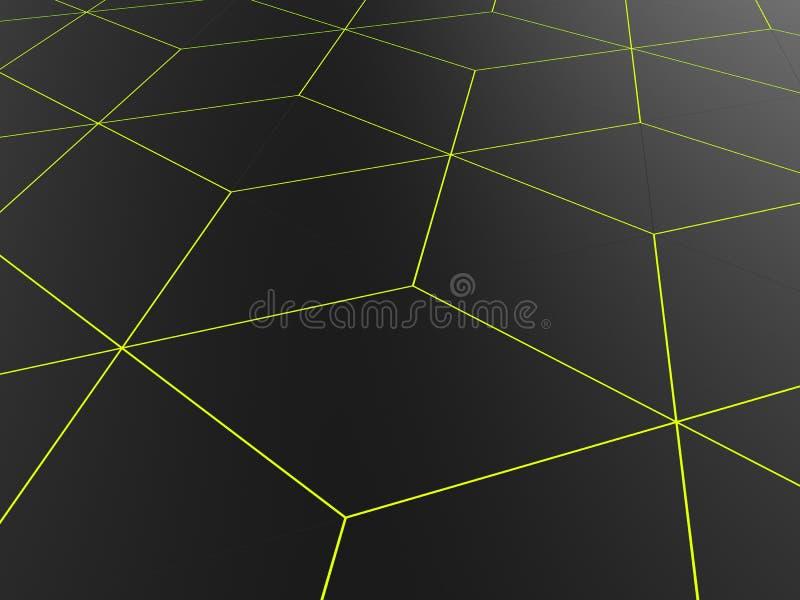 Teste padrão abstrato da rede - esboços verde-claro ilustração do vetor