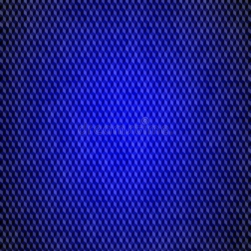 Teste padrão abstrato da tecnologia do fluxo de dados O azul esquadra o fundo ilustração royalty free