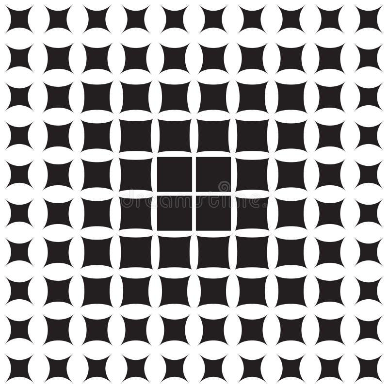 Teste padrão abstrato das formas geométricas que diminuem à borda ilustração royalty free