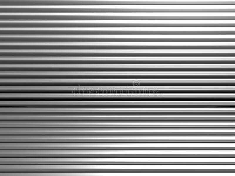 Teste padrão abstrato de alumínio da listra ilustração do vetor