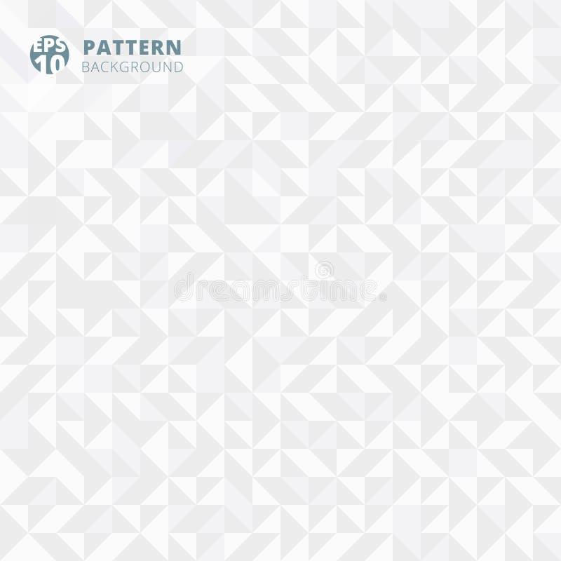 Teste padrão abstrato de formas geométricas inclinação branco e cinzento ilustração do vetor
