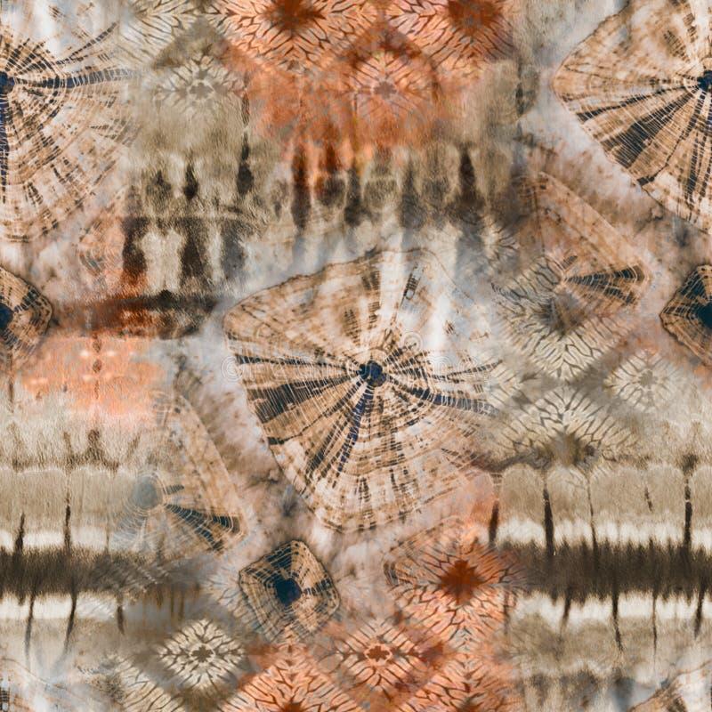 Teste padrão abstrato de matéria têxtil da laço-tintura do batik - ilustração fotos de stock royalty free