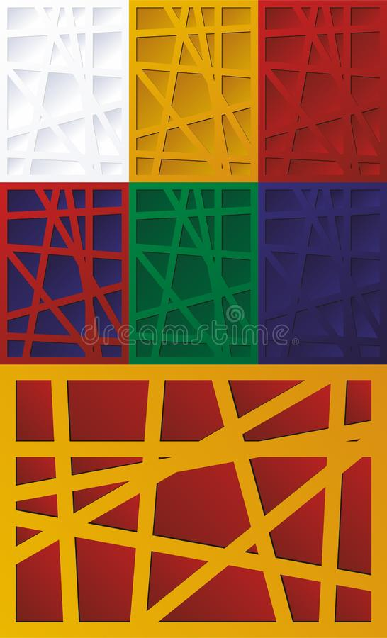 Teste padr?o abstrato de quadrados coloridos, linhas, listras Fundo urbano do vetor ilustração stock