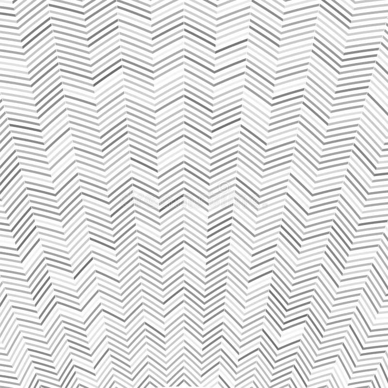 Teste padrão abstrato de Zig Zag ilustração stock
