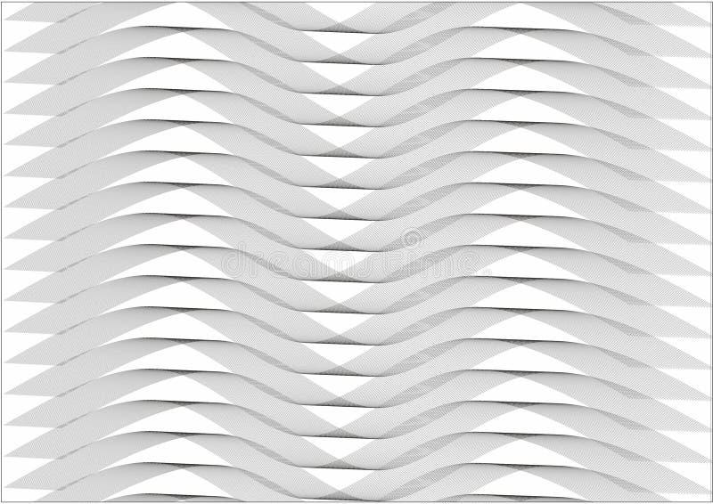 Teste padrão abstrato do b&w imagens de stock