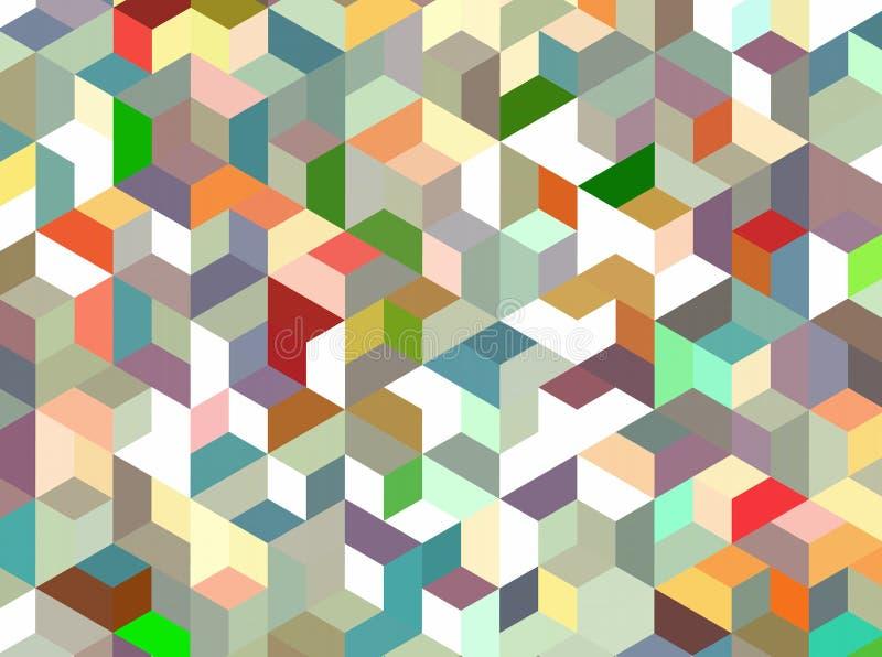 Teste padrão abstrato do bloco ilustração stock