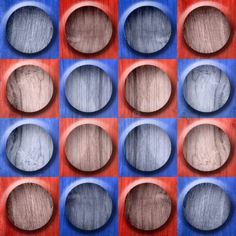 Teste padrão abstrato do botão - teste padrão sem emenda - cor vermelho-azul - wo ilustração stock