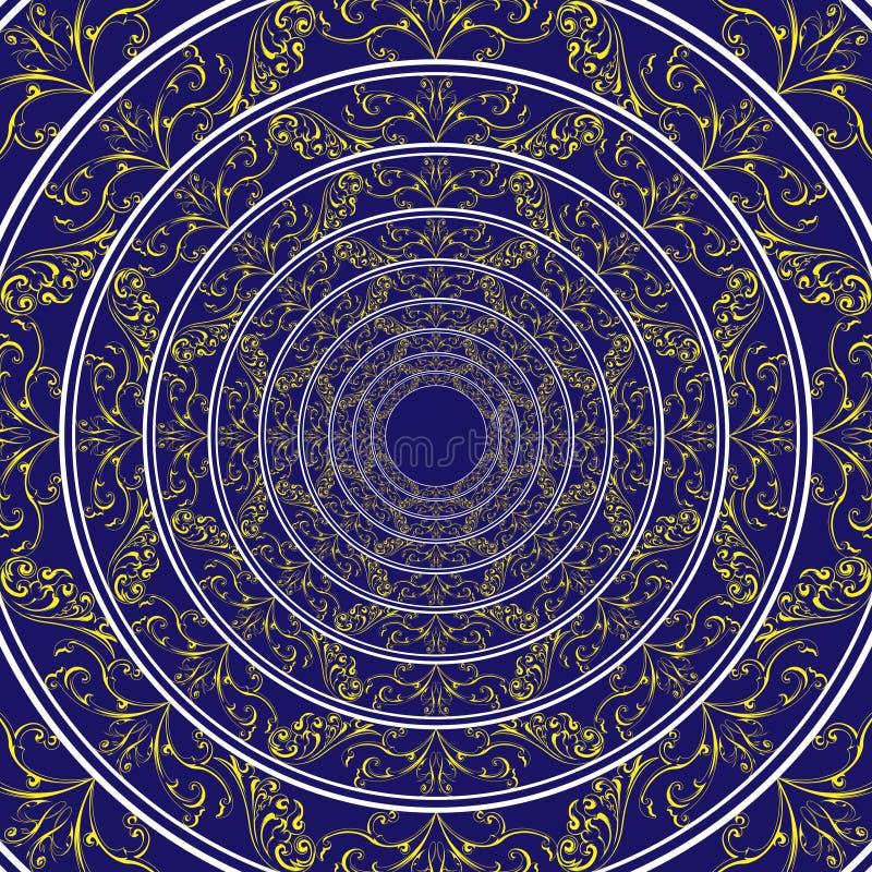 Teste padrão abstrato do círculo ilustração do vetor