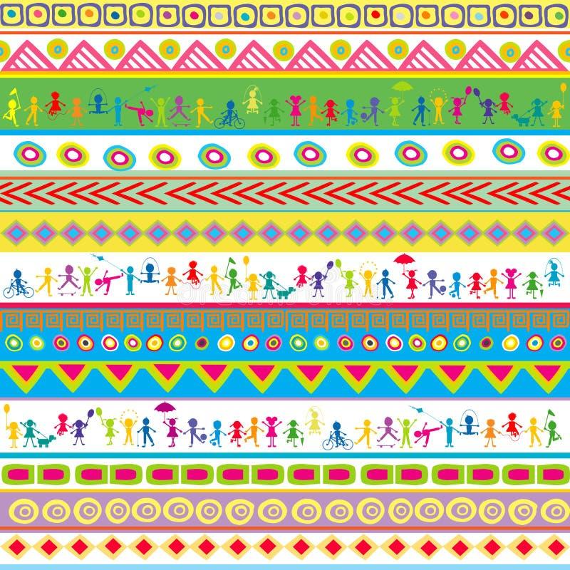 Teste padrão abstrato do divertimento brilhante sem emenda para crianças ilustração do vetor
