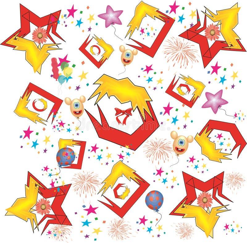 Teste padrão abstrato do feriado ilustração royalty free