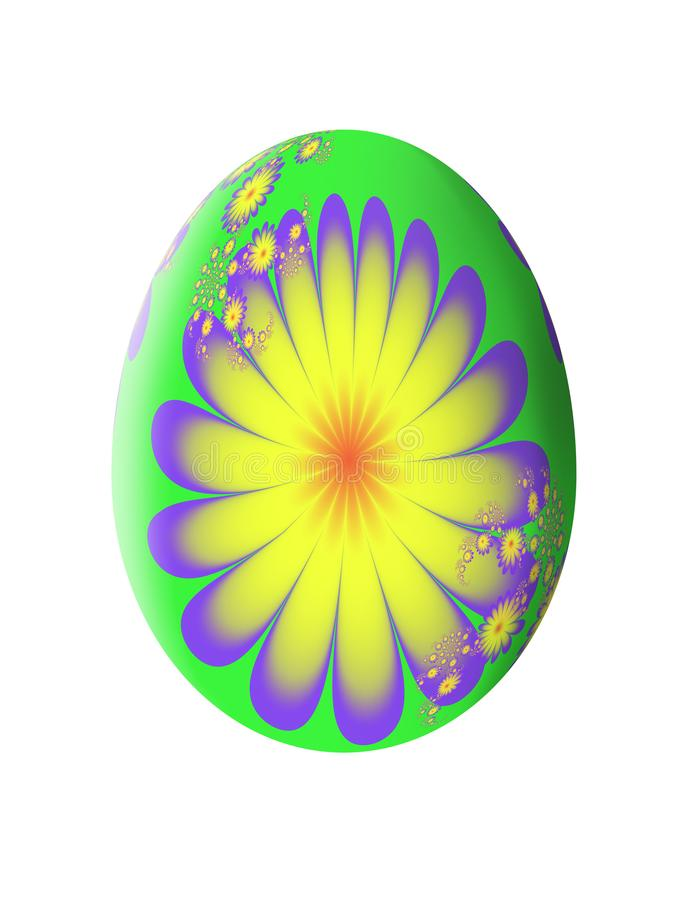 Teste padrão abstrato do Fractal Ovo de Easter Ilustração ilustração do vetor
