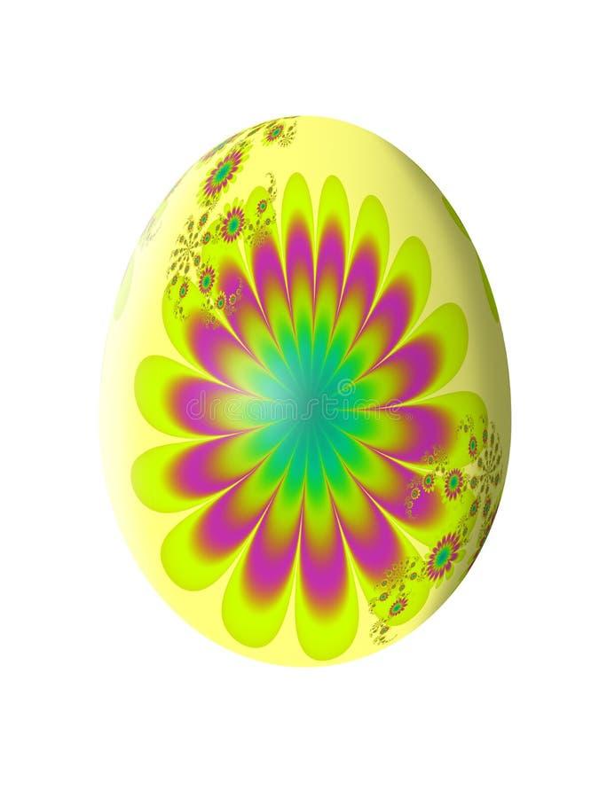 Teste padrão abstrato do Fractal Ovo de Easter Ilustração ilustração stock