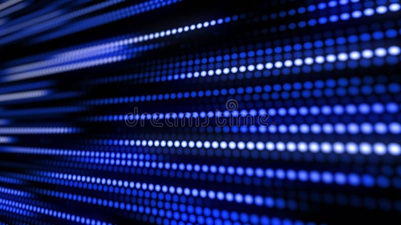 Teste padrão abstrato do fundo da esteira azul ilustração do vetor