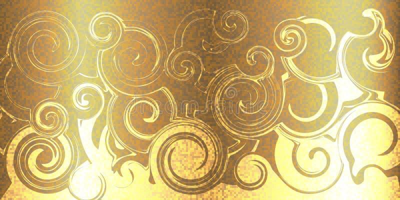 Teste padrão abstrato do giro com pixéis Molde brilhante para seus bu ilustração stock