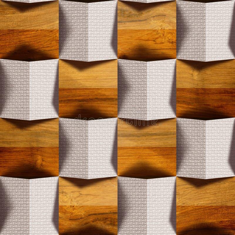 Teste padrão abstrato do paneling - fundo sem emenda - combinação de foto de stock royalty free
